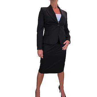 Women's Smart 2 Piece Formal Business Office Blazer Jacket Skirt Suit Fully Lined Work 10-24