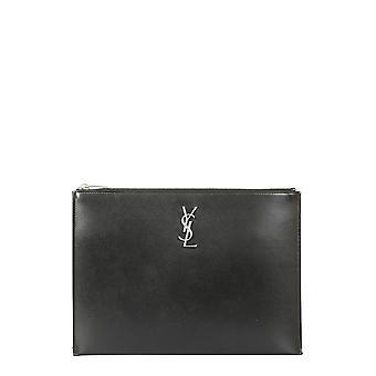 Saint Laurent 4532490sx0e1000 Damen's schwarze Ledertasche