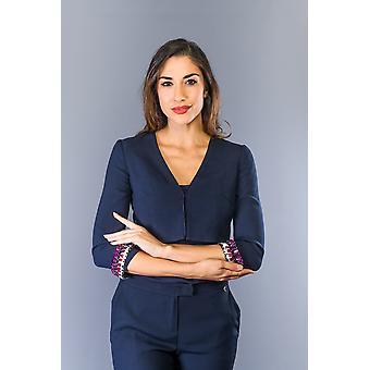 Twinset Dk Modrý elastický pás rukáv oblézavý bunda
