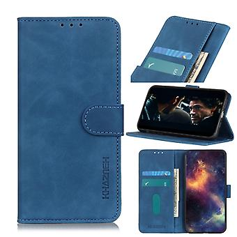 For Galaxy A41 Retro Texture PU + TPU Horizontal Flip Leather Case with Holder & Card Slots & Wallet(Blue)