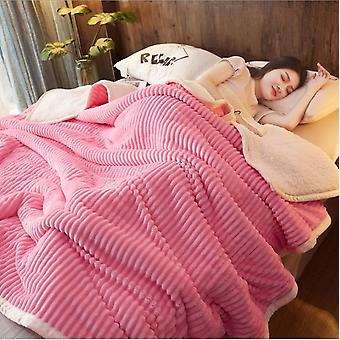 Thick Warm Blanket Quilt Coral Fleece Blanket Flannel Bed Sheet Winter Double Office Nap Blanket Single