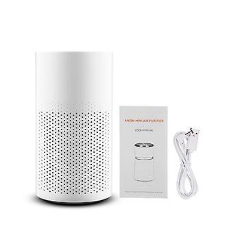 Portable air purifier negative ion air cleaner (white)