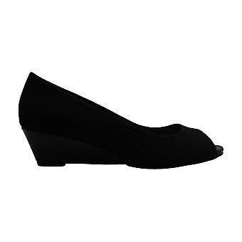 Alfani Womens Cami2 Fabric Peep Toe Wedge Pumps