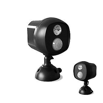 Sans fil Led Spotlight With Motion Sensor And Photocell - Weatherproof - Batterie Opérée - 140 Lumens Dark Brown/black