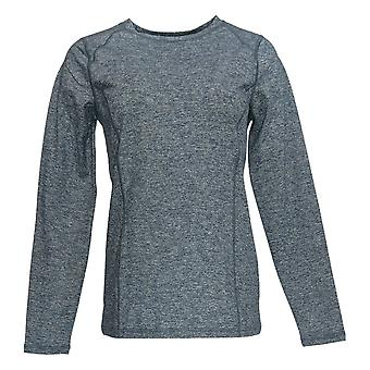 Denim & Co. Kvinder's Sweater Stribet 3/4 Sleeve Blå A293872