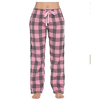 Buffalo Plaid Flannel Pajama Pants For Women With Pockets, Cotton, Sleeping Pants.