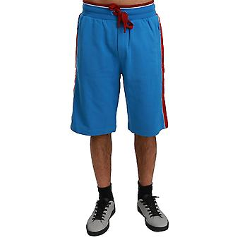 Red Stripes Casual Sweatshorts Blue Shorts