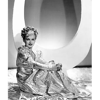 Artists And Models Abroad Joan Bennett Wearing Gold Lame Negligee Designed By Edith Head 1938 Photo Print