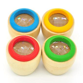 Kaleidoscope Multi-prism Wooden Toy Kids Kaleidoscope Glasses Colorful (random
