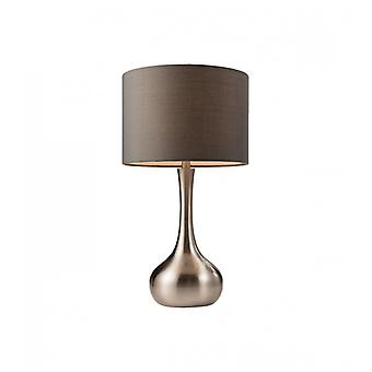 Piccadilly Lampe, Satin Nickel, mit Lampenschirm