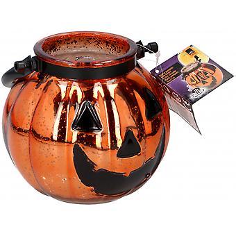 Lamp Pumpkin Led 15.5X13 Cm Glass Orange