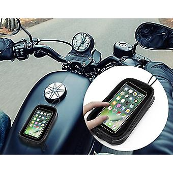 Motorcycle Fuel Tank Bag Mobile Phone Holder Case Transparent Touch Screen