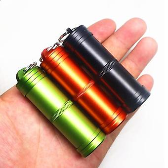 IPRee Outdoor EDC Mini Waterproof Pill Storage Tank Aluminum Case Waterproof Sealed Canister Keychai