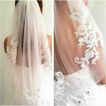 Lace Wedding Veil, Elbow Bridal Accessories With Comb