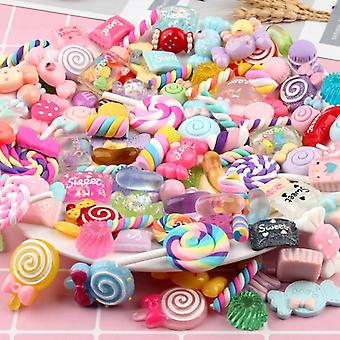Diy Colorful Candy Cake Chocolate Supplies Accessories Crystal Resin Slime