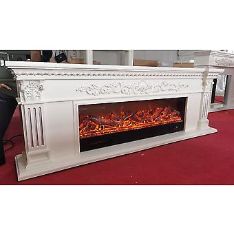 Living Room Decorating Warming Wooden Fireplace Insert Led Optical Artificial