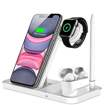 15w Qi Fast Wireless Charger Stand For Iphone 11 Xr X 8 Apple Watch Foldable