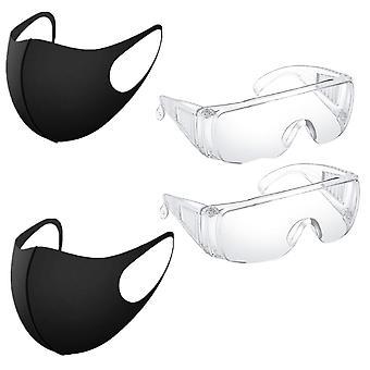 Ochelari transparenti rezistenti la praf pentru lab dental, ochelari splash, protectie pentru ochi