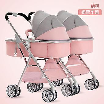 Twin Stroller Sit-down Detachable High-view Lightweight Folding Shock-absorbing