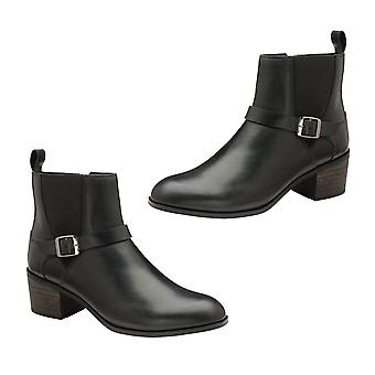 Ravel Kingsley Gusset Ankle Boot with Buckled Strap (Size 6) - Black