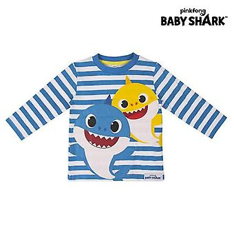 Children's long sleeve t-shirt baby shark blue