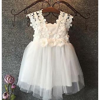 Baby mooie prinses partij parel kant tulle bloem jurk fancy jurk