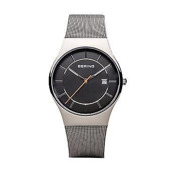 Bering reloj masculino reloj de pulsera clásico - 11938-007 banda de malla