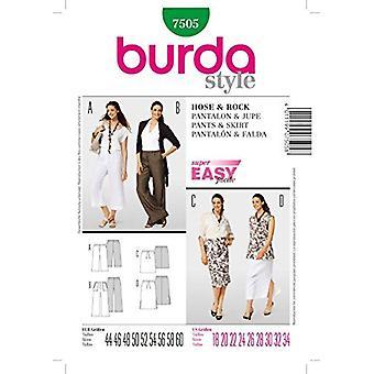 """דפוס תפירה בורדה 7505 נשים מכנסיים & amp; חצאית גודל ארה""""ב 18-34, Eur 44-60"""