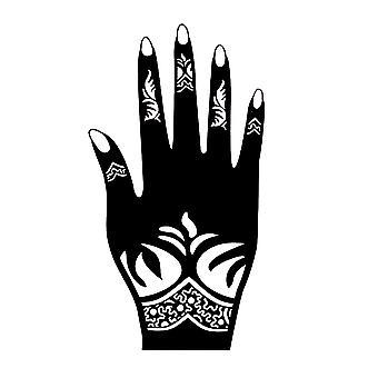 Stenciler för Henna Tatueringar, Hand Finger Body Paint Tillfälliga tatueringsmallar för kvinnliga flickor
