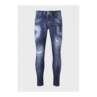 883 Police Deniro Slim Fit Blue Jeans