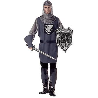 Mens Valiant Knight Medieval & Gothic Books & Film Fancy Dress Costume
