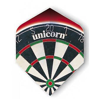 Unicorn Darts kern. 75 micron plus vluchten metallic Holgram Range-Dart Board