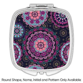 Gift Compact Mirror: Mandala Purple