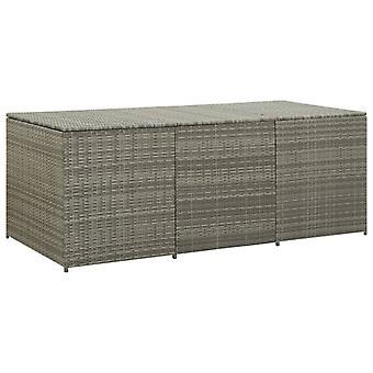 vidaXL Garden Box Poly Rattan 180x90x75 cm Grey