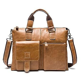 Male Laptop Bags, Messenger Bag, Leather Briefcase