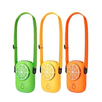 Mini fan hanging neck portable cool portable usb charging student