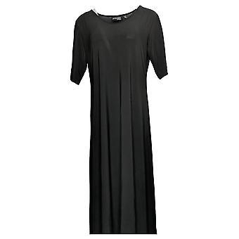المواقف من قبل رينيه المرأة فستان بيتيت الصلبة ماكسي الأسود A375422