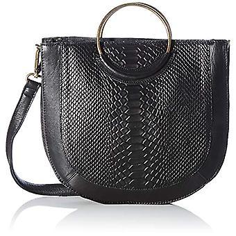 PIECES PCSINA Leather Daily Bag FC, Women's Folder Bag, Black, One Size