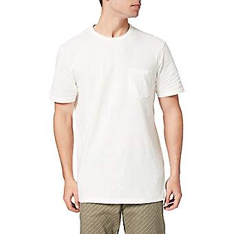 Springfield Camiseta Boxy bolsillo T-Shirt, White, M Men's