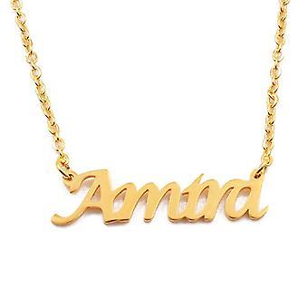 KL Kigu Amira - Naisten kaulakoru nimi, kullattu, nimi, muodikas jalokivi, lahja tyttöystävälle, äidille, sisko