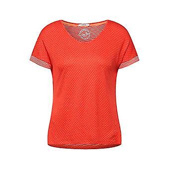 Cecil 316069 T-Shirt, Papaya Orange, XS Woman