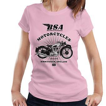 BSA Motorcycles 1910 Birmingham England Women's T-Shirt