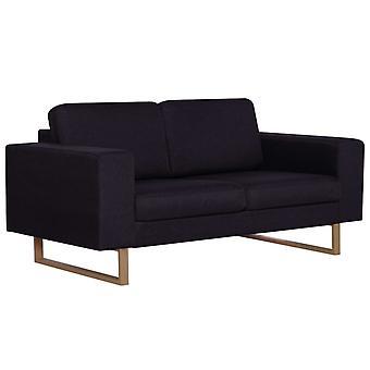 vidaXL 2-Sitzer-Sofa Stoff Schwarz