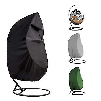 190X115cm gray outdoor swing chair eggshell cover, rattan swing cover, dust proof and rainproof az8897