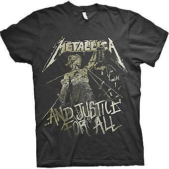 Metallica - T-shirt moyen pour hommes Justice Vintage - Noir