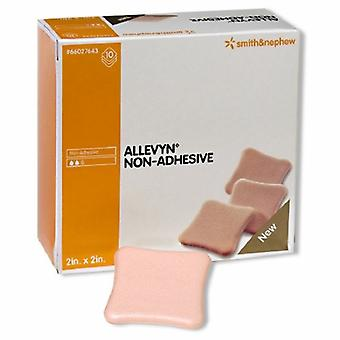 Smith & Nephew Foam Dressing Allevyn 2 X 2 Inch Square Non-Adhesive without Border Sterile, Case of 60
