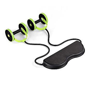 Muscle Exercise Double Wheel Ab Roller Trainer Home Fitness Equipment
