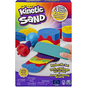 Rainbow Mix Set with 3 Colours of Kinetic Sand 382g 6 Tools