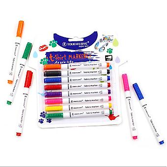 Fabric Marker 8 Colors Textile Marker Washable T-shirt Marker Ideal Decorate T-shirts