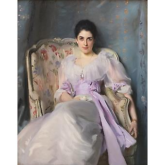 Lady Agnew Of Lochnaw,john Singer Sargent Art Reproduction.realism Style Modern Hd Art Print Poster,canvas Prints Wall Art For Home Decor Pictures (un
